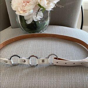 Banana republic white leather belt